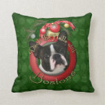 Christmas - Deck the Halls - Bostons Pillow