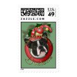 Christmas - Deck the Halls - Bostons Stamp
