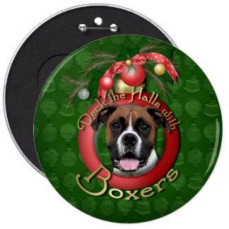 Christmas - Deck the Halls - Boxers - Vindy Button