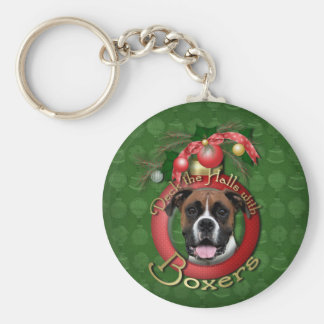 Christmas - Deck the Halls - Boxers - Vindy Basic Round Button Keychain