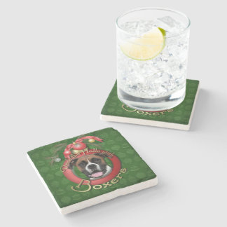 Christmas - Deck the Halls - Boxers - Vindy Stone Coaster
