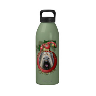 Christmas - Deck the Halls - Briard Drinking Bottles