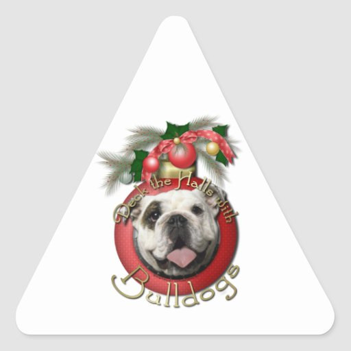 Christmas - Deck the Halls - Bulldogs Triangle Sticker