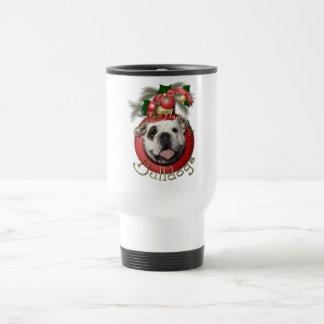 Christmas - Deck the Halls - Bulldogs Travel Mug