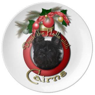 Christmas - Deck the Halls - Cairns - Rosco Porcelain Plates