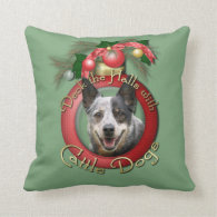 Christmas - Deck the Halls - Cattle Dogs Pillows