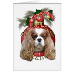 Christmas - Deck the Halls - Cavaliers - Blenheim Greeting Card