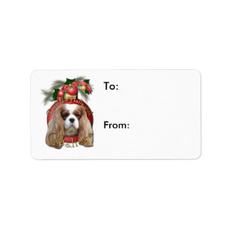 Christmas - Deck the Halls - Cavaliers - Blenheim Personalized Address Label