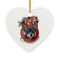 Christmas - Deck the Halls - Chihuahuas - Isabella Christmas Tree Ornaments