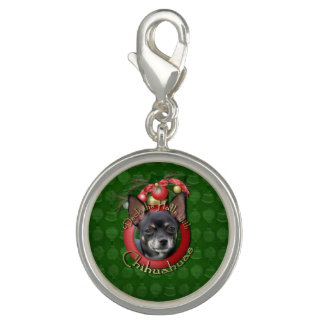 Christmas - Deck the Halls - Chihuahuas - Isabella Photo Charms