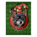 Christmas - Deck the Halls - Chihuahuas - Isabella Postcard