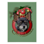 Christmas - Deck the Halls - Chihuahuas - Isabella Print