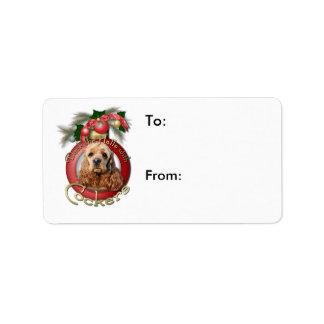Christmas - Deck the Halls - Cockers Label