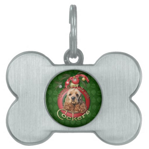 Christmas - Deck the Halls - Cockers Pet Tag