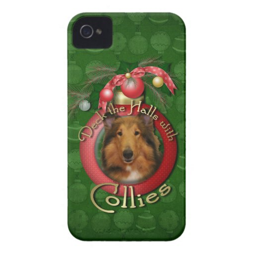 Christmas - Deck the Halls - Collie - Natalie iPhone 4 Cover