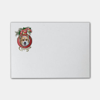 Christmas - Deck the Halls - Corgi Post-it® Notes