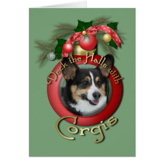Christmas - Deck the Halls - Corgis Cards