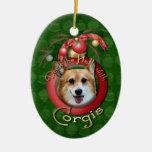 Christmas - Deck the Halls - Corgis - Owen Ornaments