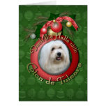 Christmas - Deck the Halls - Coton de Tulear Greeting Cards