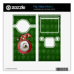Christmas - Deck the Halls - Coton de Tulears Flip Video Ultra II Decal