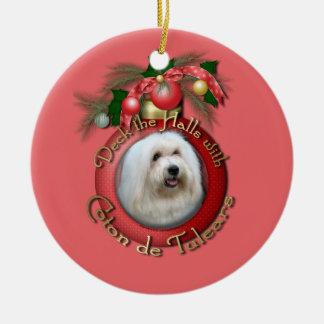 Christmas - Deck the Halls - Cotons Ceramic Ornament