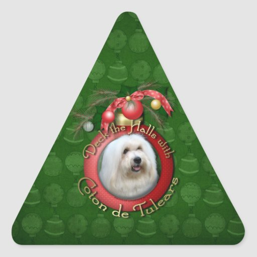 Christmas - Deck the Halls - Cotons Triangle Sticker
