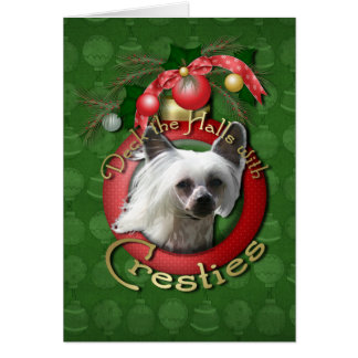 Christmas - Deck the Halls - Cresties Greeting Card