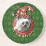 Christmas - Deck the Halls - Cresties Beverage Coaster