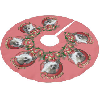 Christmas - Deck the Halls - Cresties Brushed Polyester Tree Skirt