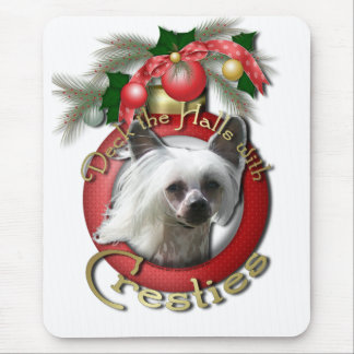 Christmas - Deck the Halls - Cresties Mouse Pad