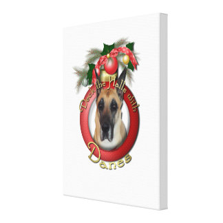 Christmas - Deck the Halls - Danes Stretched Canvas Prints