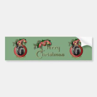 Christmas - Deck the Halls - Danes - Grey Bumper Sticker
