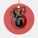 Christmas - Deck the Halls - Danes - Grey Ornament