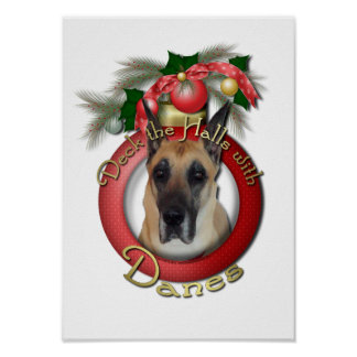 Christmas - Deck the Halls - Danes Posters