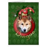 Christmas - Deck the Halls - Dingos Greeting Card