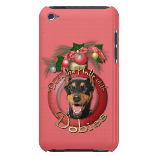 Christmas - Deck the Halls - Dobies - Megyan Barely There iPod Cover