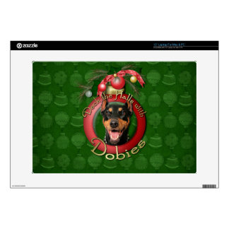 Christmas - Deck the Halls - Dobies - Megyan Decal For Laptop