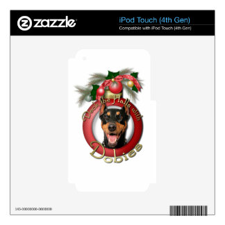 Christmas - Deck the Halls - Dobies - Megyan Decals For iPod Touch 4G