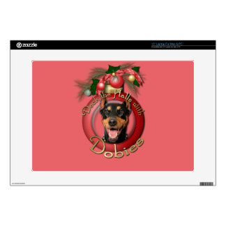 Christmas - Deck the Halls - Dobies - Megyan Decals For Laptops