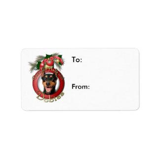 Christmas - Deck the Halls - Dobies - Megyan Label