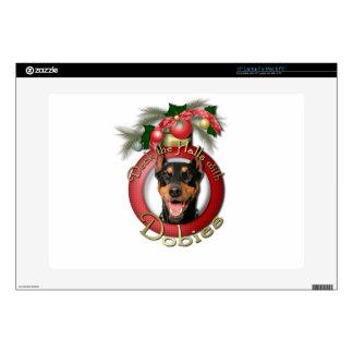 Christmas - Deck the Halls - Dobies - Megyan Laptop Skins