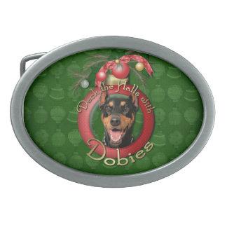 Christmas - Deck the Halls - Dobies - Megyan Oval Belt Buckle