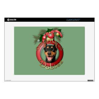 Christmas - Deck the Halls - Dobies - Megyan Skin For Laptop