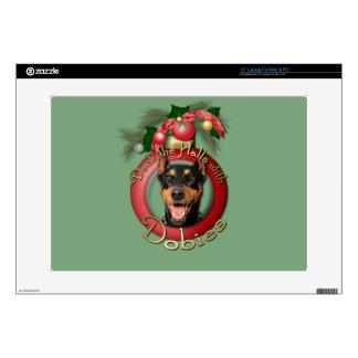 """Christmas - Deck the Halls - Dobies - Megyan Skins For 15"""" Laptops"""