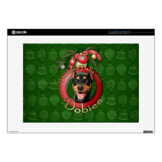 Christmas - Deck the Halls - Dobies - Megyan Skins For Laptops