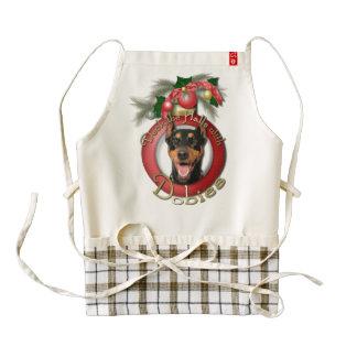 Christmas - Deck the Halls - Dobies - Megyan Zazzle HEART Apron