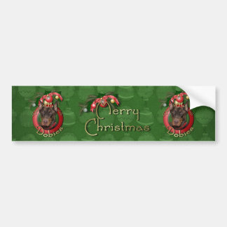 Christmas - Deck the Halls - Dobies - Rocky Bumper Stickers
