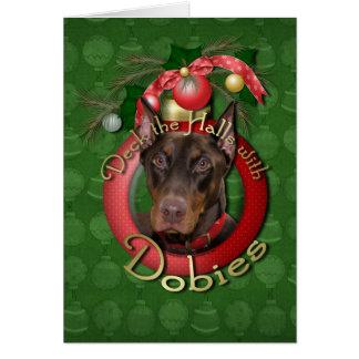 Christmas - Deck the Halls - Dobies - Rocky Card