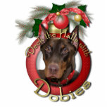 Christmas - Deck the Halls - Dobies - Rocky Acrylic Cut Outs