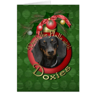 Christmas - Deck the Halls - Doxies Greeting Cards